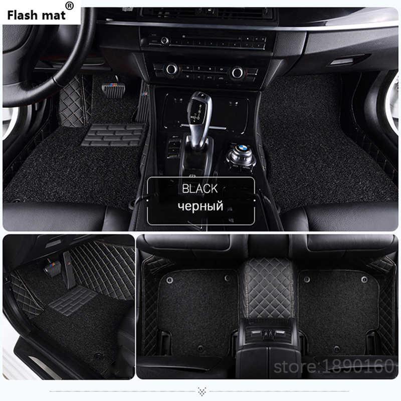 Flash mat Personalizzato tappetino auto per Fiat Tutti I Modelli Ottimo 500 Panda Punto palio Linea Sedici Viaggio Bravo Freemont auto styling