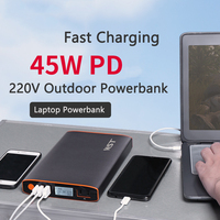 For Laptop Power Bank 27200mAh 220V Outdoor USB Powerbank For Smartphone Tablet Camera Portable Charger PD 45W Type C Poverbank
