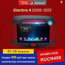 Junsun V1 Android 10.0 Ai Voice 4G DSP Radio Coche con Pantalla para Hyundai Elantra HD 2006 2007 2008 2009 2010 2011 con funciones GPS de Navegación, Mandos de Volante No es Autoradio de 2 DIN