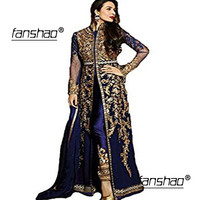 Royal Blue Muslim Evening Dresses Gold Lace Pants Satin Dubai Moroccan Kaftan Dress Long Sleeves Formal dress Evening Party gown