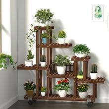 Деревянная подставка для цветов, подставка из дерева, балконные цветочные горшки, Многоуровневая Бытовая полка, садовое декоративное растение, подставка