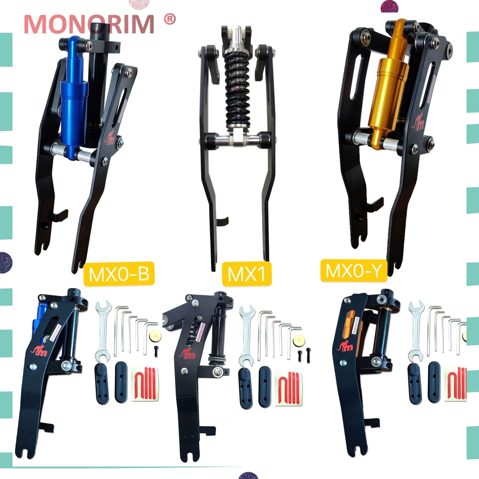 SUSPENSION Monorim MX0-B WITH SHOCK ABSORBER Blue FOR NINEBOT MAX G30