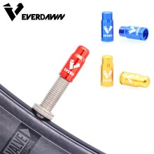 EVERDAWN Bike Tire Presta Valve Cap Aluminum CNC Bicycle Dust 2 Piece