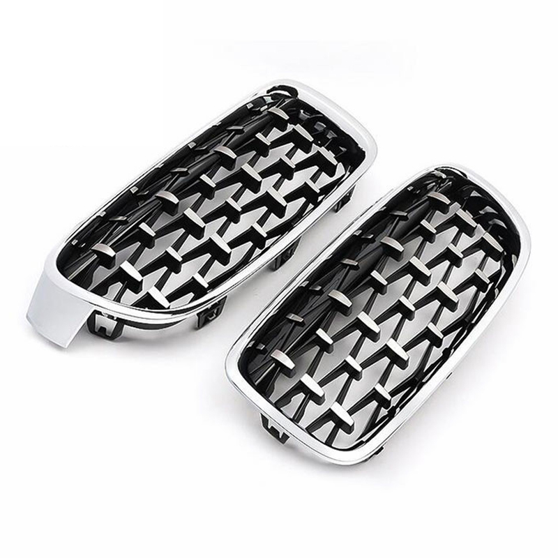 A Pair Diamond Car Front <font><b>Grill</b></font> Racing <font><b>Grills</b></font> For BMW F30 F34 F10 F11 <font><b>G30</b></font> G38 G11 G12 G01 E70 E71 F15 F16 3 5 7 Series X3 X5 X6 image