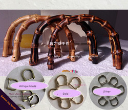 Wholesale Wooden Purse Frame Bag Handle Accessories Bamboo Bag Hanger Metal Handware China  Bamboo Handle