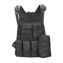 Дышащий тактический охотничий военный жилет Molle открытый жилет одежда боевой штурмовой джунгли оборудование жилет 4 цвета