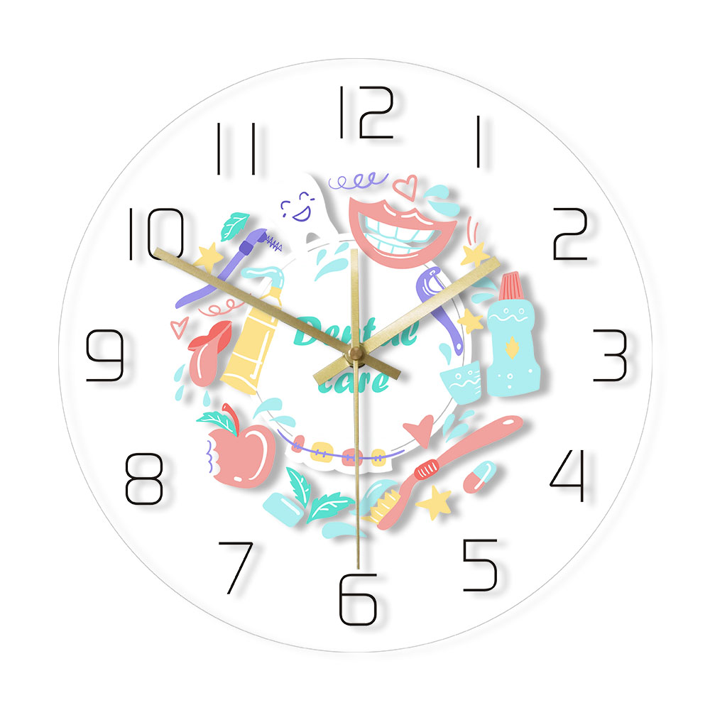 Dental Care Dentist Office  Wall Clock Stomatology Print Wall Watch Oral Medicine Dental Clinic Decoration Dentistry Gift Idea