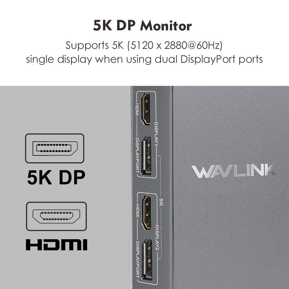 Image 3 - USB C Universal Docking Station  HDMI Dual 4K@60Hz Ultra HD 5K video Display Gigabit Ethernet USB 3.0 for Windows Working OnlineLaptop Docking Stations   -