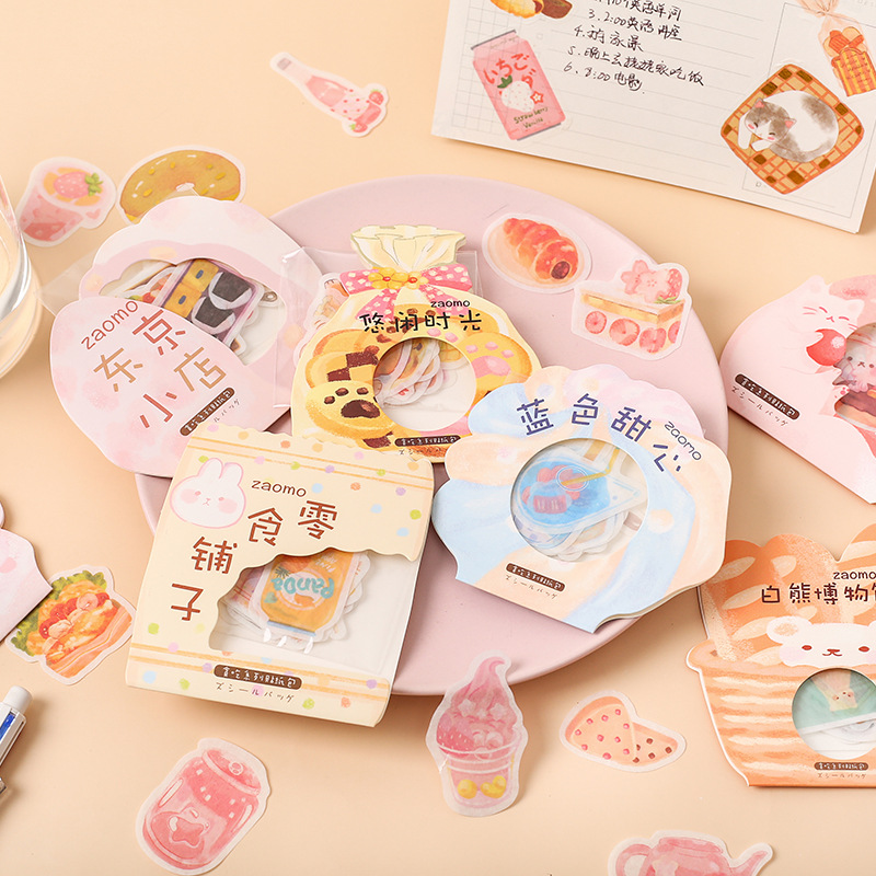 Kawaii Snack Shop Gluttony Series Bullet Journal Decorative Stationery Stickers Scrapbooking DIY Diary Album Stick Label