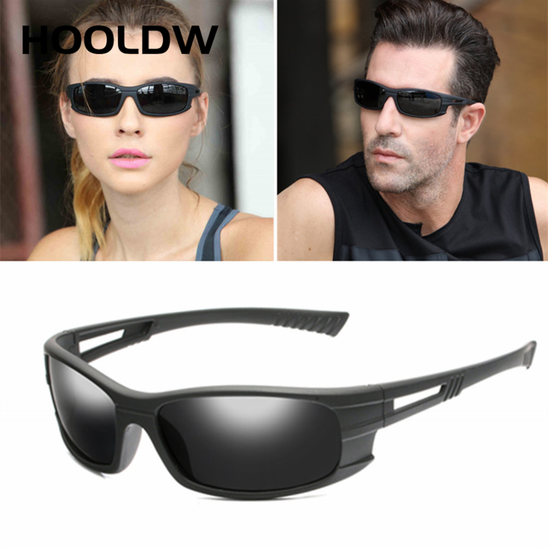 HOOLDW 2020 New Polarized Sunglasses Brand Design Vintage Glasses Outdoor Sport Fishing Driving Sun Glasses UV400 Goggle Eyewear