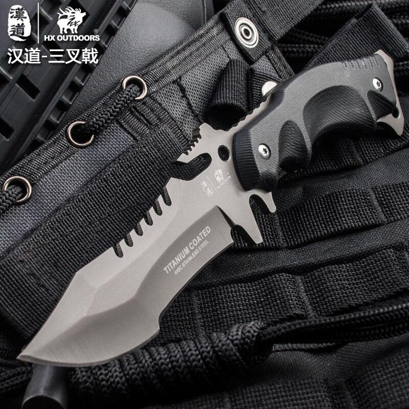 HX OUTDOORS Outdoor Portable Tactical Army Survival Gear cuchillo k10 - Herramientas manuales - foto 4