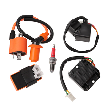 1 Set Racing Ignition Coil AC CDI Spark Plug Regulator Relay Kit For GY6 50/125/150CC Chinese Scooter ATV Go-Kart Moped Engine