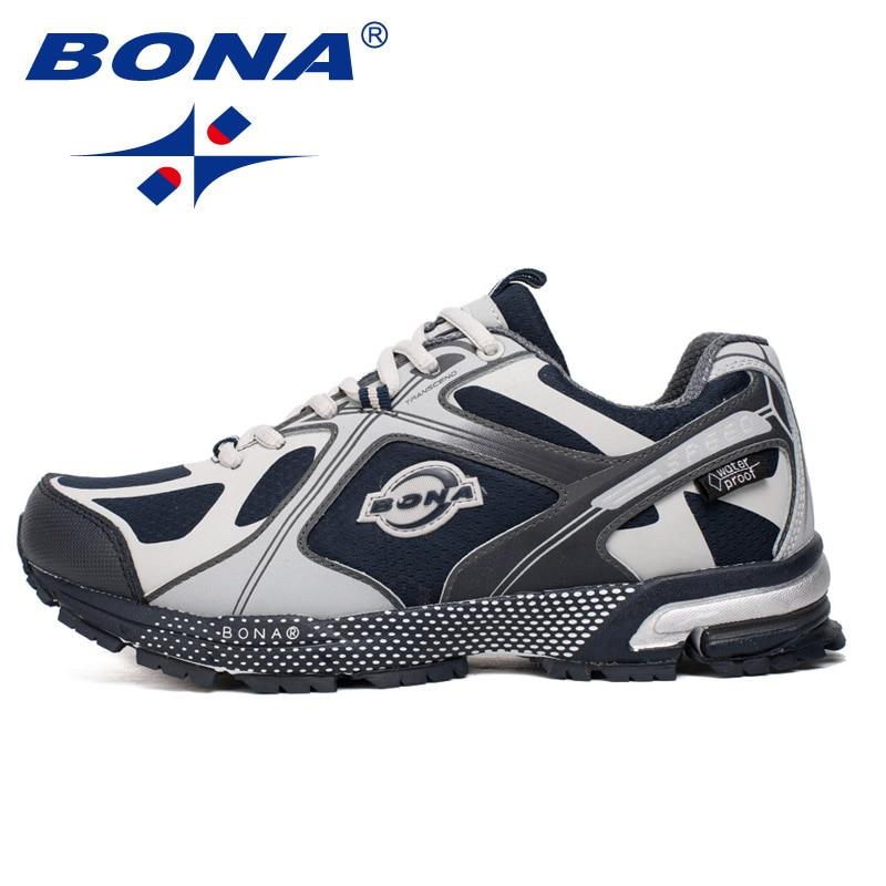 BONA 2019 New Designer Popular  Sneakers Shoes Men Mesh Light Breathable Men Casual Tenis Shoes Men Outdoor Zapatos Hombre Shoes
