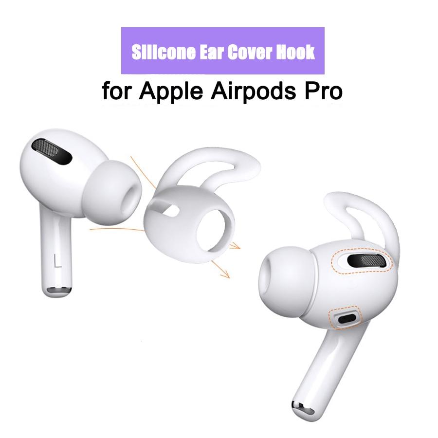 Силиконовый чехол для наушников Airpods Pro, защита от потери, ушные крючки, крышка для Apple Airpods Pro, аксессуары для Bluetooth наушников