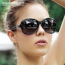 SIMPRECT – lunettes de soleil rondes pour femmes, noires, surdimensionnées, rétro Vintage, grandes lunettes de soleil pour Dames, 2021