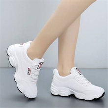 Купить с кэшбэком New adult Winter shoes woman Fashion Fur warm wedges platform Women Sneakers tenis feminino Suede zapatos de mujer scarpe donna