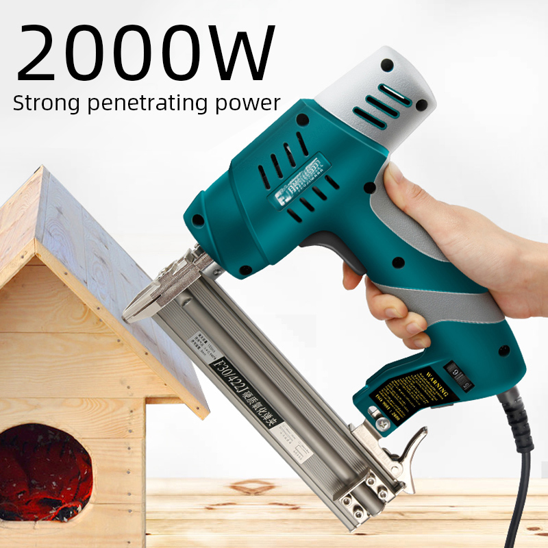 2000W Dual-Purpose Electric Nail Gun 220V Woodworking Tools Electrical Staple Nail For Furniture Nailing Stapler Shooter
