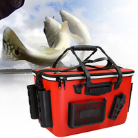 Outdoor Large Capacity EVA Fishing Box Living Zipper Closure Multi Pockets Portable Tackle Storage Shoulder Strap Wear Resistant|Fishing Tackle Boxes| |  -