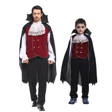 Umorden Halloween Family Matching Noble Earl Vampire Costume Boys Men for Kids Adult Carnival Party Fancy Cosplay Clothes