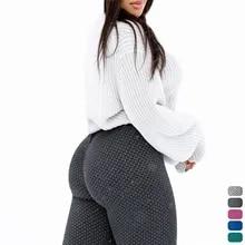 Women High Waist Leggings No See Through Thick Fitness Legging Butt Lift Seamless Legins Workout Gym Scrunch Booty Push Up Pants
