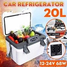 20L Mini Fridge Car Fridge Camping Freezer Car Refrigerator Compressor Cooler Home Travel Fishing Outdoors Auto Fridge 12V/24V
