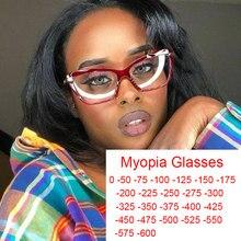 Rojo transparente miope gafas TR90 Anti-Luz Azul miopía filtros de lentes rayos ordenador gafas-1 -2 -3 -5 -6