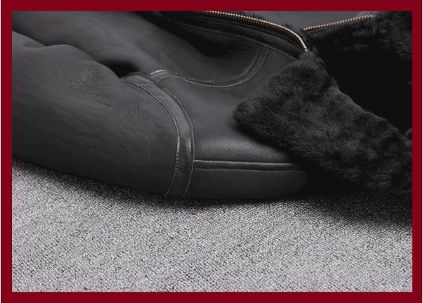 H62abc691f3bf42049d68b392b0e9ccf3S Free shipping,Sales Winter Sheep fur coat,100% wool Shearling jacket,warm leather sheepskin coat.plus size classic motor style