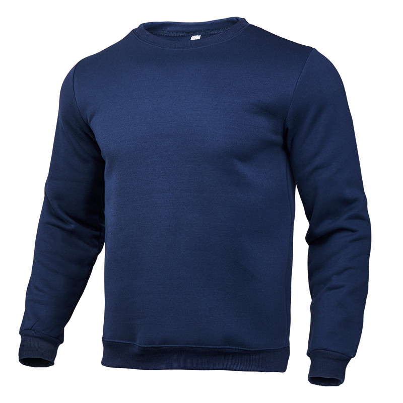 2020 new winter round neck cotton solid color fashion casual pullover jogging fitness sweatshirt track and field sweater S〜3XL 5
