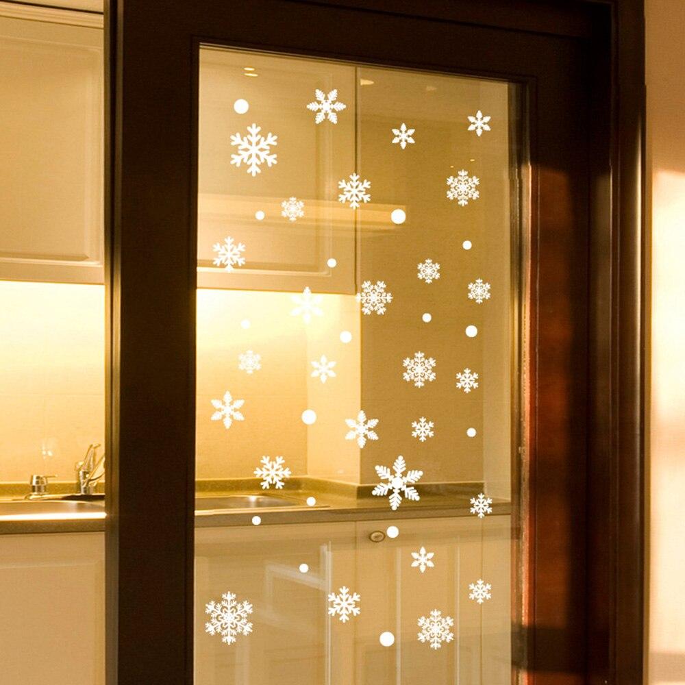 Nuevo 48 Uds pegatinas de pared de ventana blanca nieve Navidad decoraciones Año Nuevo suministros Taladro completo diamante bordado Hada chica mariposa Ángel invierno nieve bosque árbol 5D DIY diamante pintura punto de cruz YHAll