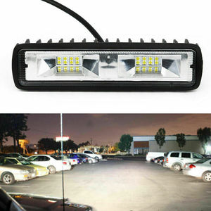12V 18W 6led LED Bar Car Work Light Bar Spotlight Lights For Truck Tractor SUV ATV Offroad Lights Night Working 6500K White