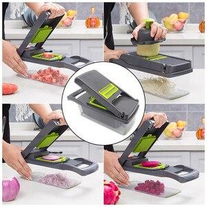 Image 5 - Vegetable Chopper Mandoline Slicer With Big Container Spiralizer Vegetable Slicer Dicer Potato Carrot Grater Kitchen Accessories