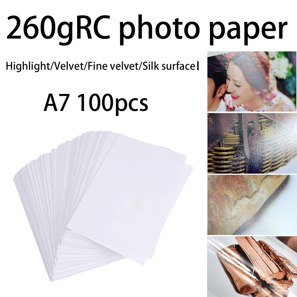 50pcs/Lot Photo Paper Sticker Universal Premium 260g A4/A7 Waterproof Printing Office Printer Photo Paper Printers Picture