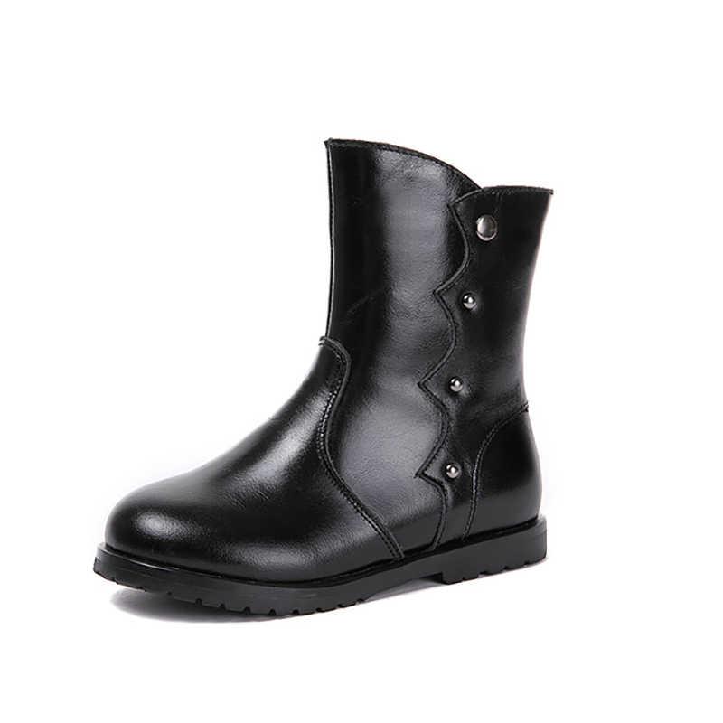 Dolakids kids schoenen herfst/winter Nieuwe lederen vintage Britse Martin laarzen voor kinderen baby meisje retro laarzen snowboots