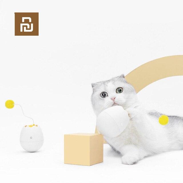Youpin אלקטרוני תנועה חתול צעצוע אינטראקטיבי חתול טיזר כיף בצורת צעצועי רפרוף מסתובב אינטראקטיבי פאזל חיות מחמד