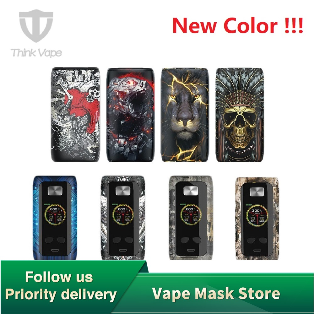 100% Original Think Vape Thor 200W TC Box MOD Vs Think Vape Thor Pro 220W Mod No 18650 Battery Vape Thor Attractive Patterns