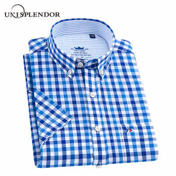 100%Cotton 2019 Black Plaid Shirt Men Shirts New Summer Fashion Chemise Homme Mans Checkered Shirt Fit Short Sleeve Tops YN10305 - DISCOUNT ITEM  35% OFF All Category