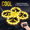 Halolo ZF04 RC Mini Quadcopter Induction Drone Smart Watch Remote Sensing Gesture Aircraft UFO Hand Control Altitude Hold Drone