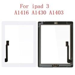 """9.7 """"Digitzer dla apple iPad 3 dotykowy iPad3 A1416 A1430 A1403 ekran dotykowy Digitizer czujnik szklany Panel darmowe ramki Bezel w Ekrany LCD i panele do tabletów od Komputer i biuro na"""