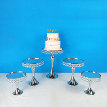 Get more info on the Tobs Gold Crystal cake stand set  gold mirror Electroplating face wedding party table table decorating tools dessert candy bar