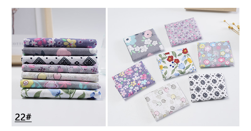 H62ac7ff45e5d4500a1f5104ce146d95fE 25x25cm and 10x10cm Cotton Fabric Printed Cloth Sewing Quilting Fabrics for Patchwork Needlework DIY Handmade Accessories T7866