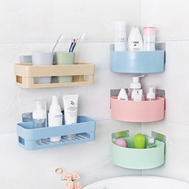 Дыропробивная полка для хранения в ванной комнате, Пластиковая Полка для туалета, умывальника, присоски, настенные вешалки, стеллаж для