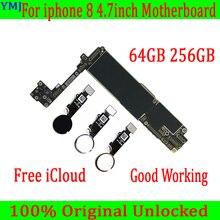 64GB 256G 100% sbloccato Originale per iphone 8 Scheda Madre Con/Senza Touch ID, per iphone 8 scheda madre del telefono Mobile con Chip