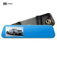 DV118 dash cam mirror dash camera dual camera lens car dvr with two camera rearview mirror dashcam full hd 1080P video recorder