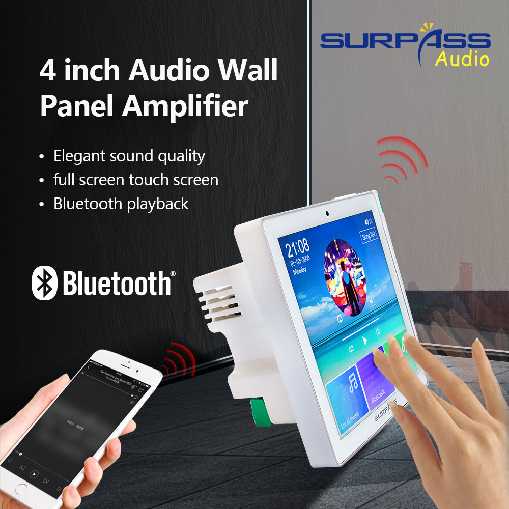 Digital Stereo Player Smart Home Background Music System Bluetooth Wall Amplifier Combo With Ceiling Speaker