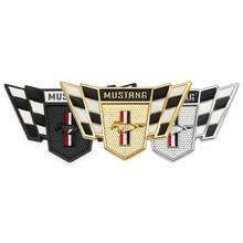 3D สติกเกอร์รถป้ายสัญลักษณ์ Racing Trunk สำหรับ Ford Mustang Shelby GT 350 500 Cobra Fiesta Kuga Mondeo MK focus 2 3 F 150