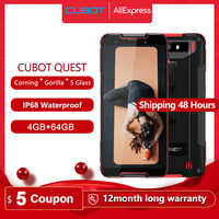 "Cubot Quest Cellphone IP68 Sports Rugged Phone Helio P22 Octa-Core 5.5"" NFC 4000mAh 4GB+64GB Android 9.0 Face ID Global Band"