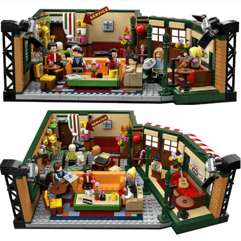 New Classic TV American Drama Friends Central Perk Cafe Fit Friends Model Building Block Bricks 21319 Toy Gift Kid
