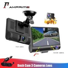 AMPrime 4 ''трёхполосный Автомобильный видеорегистратор FHD с тремя объективами, видеокамера 170, широкоугольный видеорегистратор, g-сенсор и видеокамера ночного видения