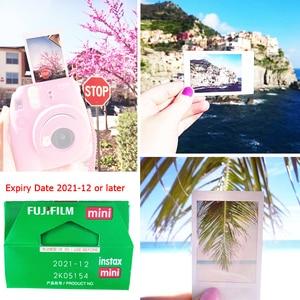 Image 3 - Fujifilm Instax Mini Film Weiß 10 20 40 60 80 100 Blätter Für FUJI Instant Photo Kamera Mini 9 Mini 11 8 7s 70 + Kostenloser Aufkleber