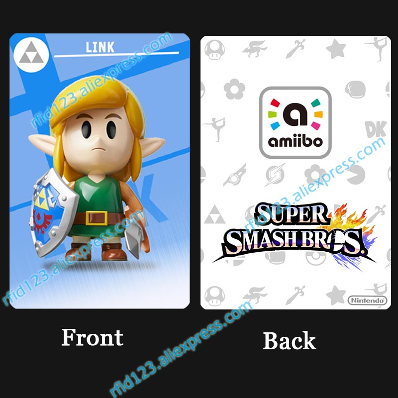 Link's Awakening Amiibo NFC Card Super Smash Bro.